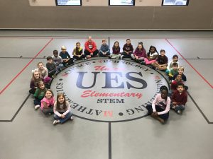 UES students in the gym